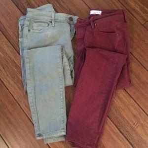 Two LOFT high waist skinny jeans